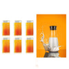 TopMart Transparent Unbreakable Water Juicy Jug and 6 Pcs. Glass Combo Set for Dining Table Office Restaurant Pitcher