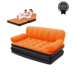 TopMart Foldable Inflatable Double Air Bed Sofa Chair Couch Lounger