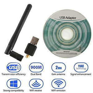 TopMart Wireless Wifi Adapter (USB wifi Antenna 5dB 150mbps)