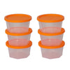 TopMart Plastic Container Set, 200ml, Set of 6