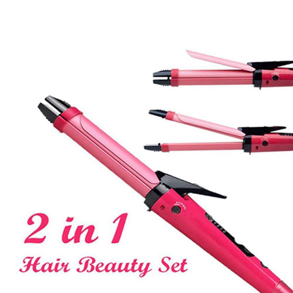 TopMart 2 in 1 Hair Straightener and Curler Machine For Women | Curl & Straight Hair Iron