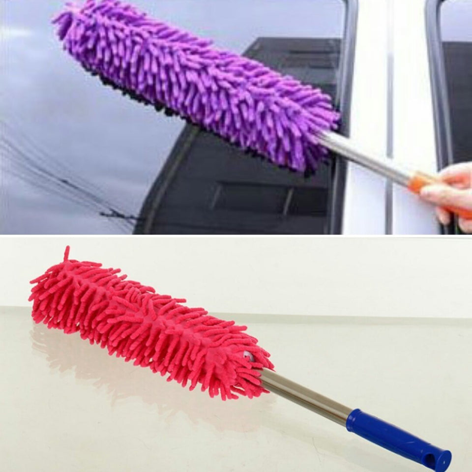 TopMart Multipurpose Microfiber Cleaning Duster With Extendable Telescopic Wall Hanging Handle