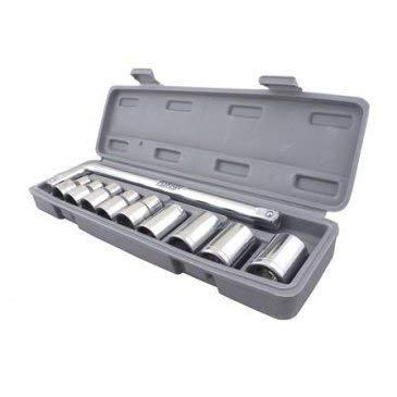 TopMart 10 pc, 6 pt. 3/8 in. Drive Standard Socket Wrench Set