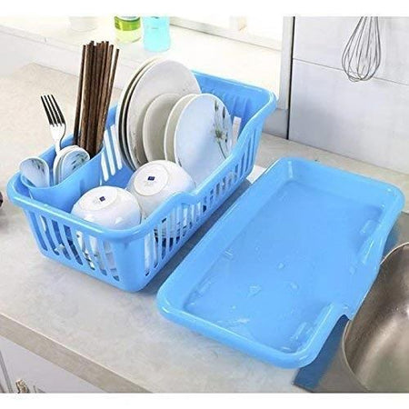 TopMart Plastic Sink Dish Drainer Drying Rack