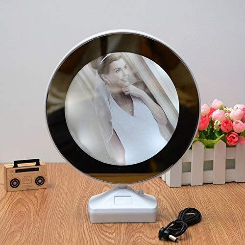 TopMart Plastic 2 in 1 Mirror Come Photo Frame with Led Light