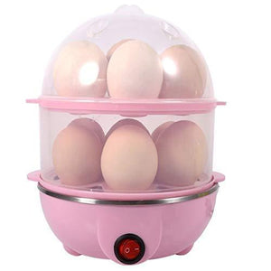 TopMart Multi-Function 2 Layer 14 Egg Cooker Boilers & Steamer