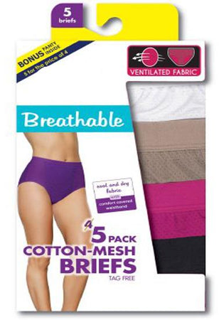 3XL,4XL,5XL Gratifying High Waistband 5 Cotton Briefs + 1 Free Bra