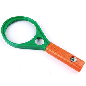 TopMart Hand-Held Optical Grade Magnifying Glass with Compass (90mm)