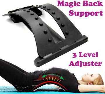 Multi-Level Back Stretcher Posture Corrector Device for Back Pain Relief with Back Support Mate Magic Back Stretching Massage