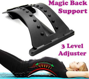 ORPIO (LABEL) Multi-Level Back Stretcher Posture Corrector Device for Back Pain Relief with Back Support Mate Magic Back Stretching Massage