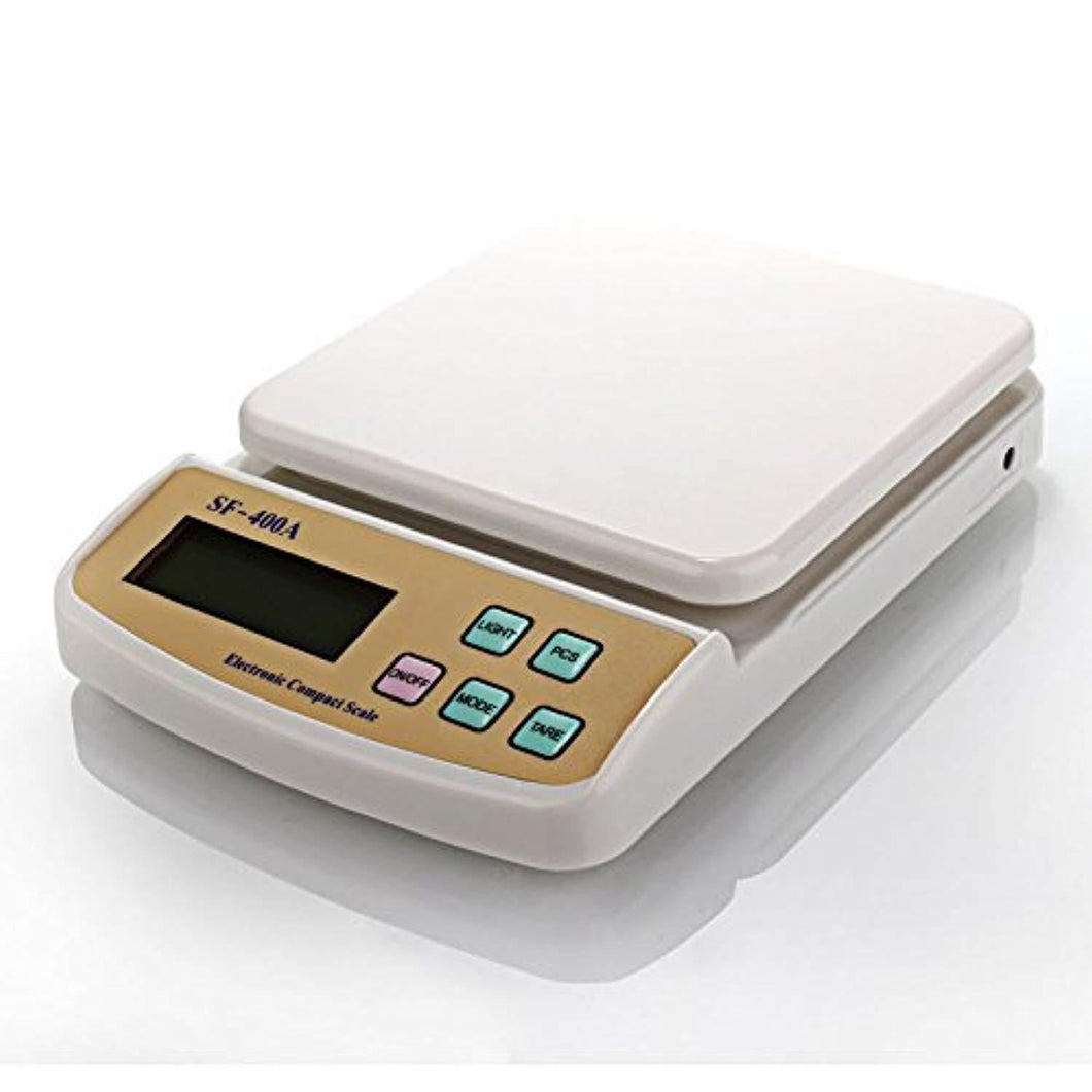TopMart Atom A122 Electronic Kitchen Digital Weighing Scale (SF-400A), White