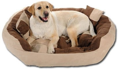 slatters be royal store Round-Sofa Shape Reversable Dual Cream Brown Color Ultra Soft Ethnic Designer Velvet Bed for Dog/Cat (Export Quality) Size : Small