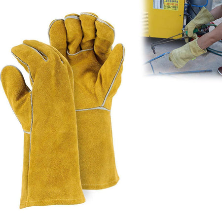 TopMartProtective Durable Heat Resistant Welding Gloves
