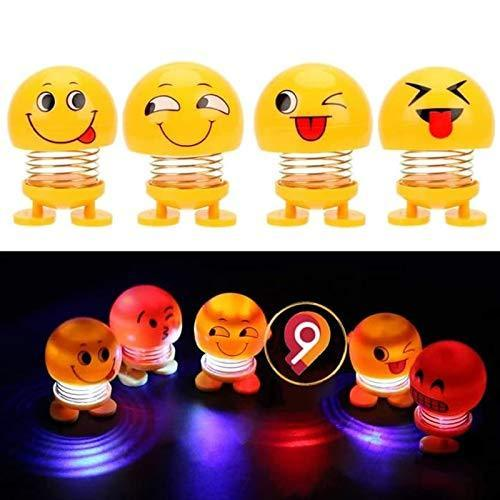 TopMart Emoticon Figure Smiling Lighting Face Spring Doll