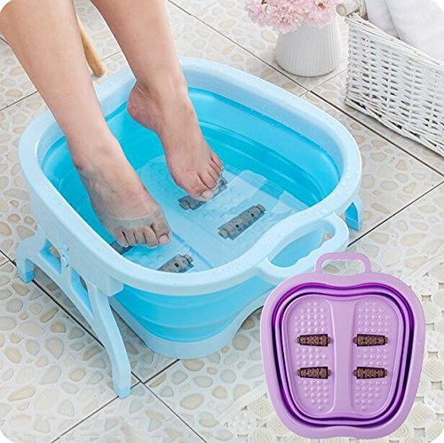 Iktu™ Folding Foot Pedicure Spa Tub Collapsible Portable Roller Massage (Assorted Colour)