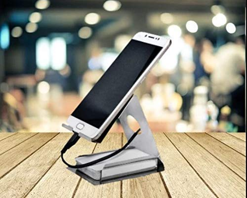 TopMart Mobile Phone Metal Stand Holder for Smartphones and Tablet Antique Silver