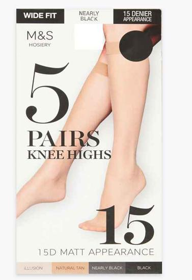 5 Matt knee highs 15 denier appearance Lycra ATMOSPHERE pack of 4