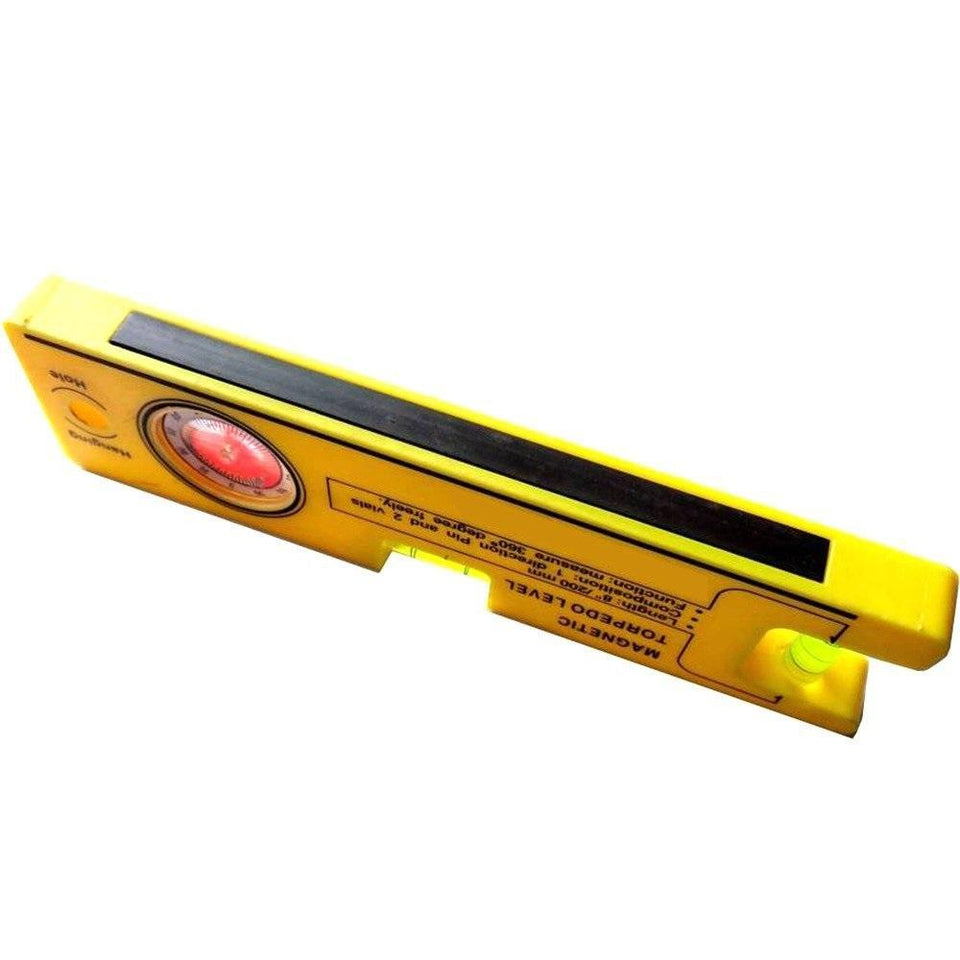 TopMart 8-inch Magnetic Torpedo Level with 1 Direction Pin, 2 Vials and 360 Degree View