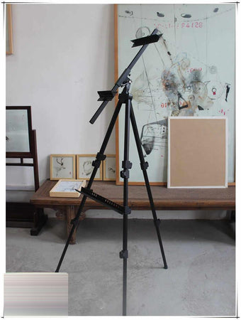 TopMart  Artists' Portable Lightweight Metal Display Easel  with Free Weatherproof Carry Bag