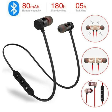 TopMart Bluetooth Sports Sweatproof Earphones/Headphones