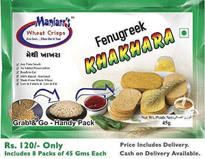 TopMart Methi khakhra (Pack of 8)