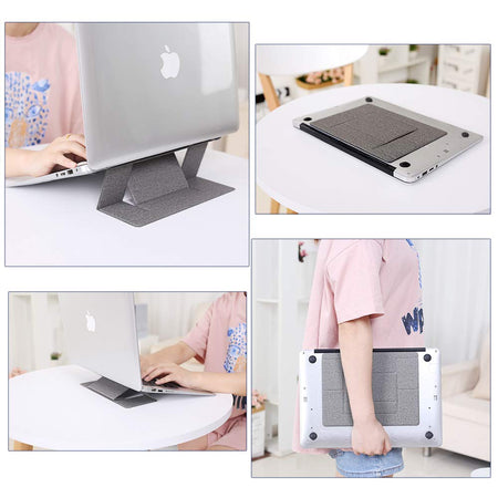 Laptop Stand, Invisible Lightweight Computer Stand, Portable Foldable Holder Fit for MacBook, Air,Pro,Ipad,Notebook and Tablet(Gray)