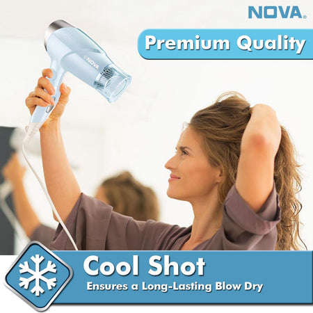 NOVA NHP 8203 Premium Hair Dryer (Blue)