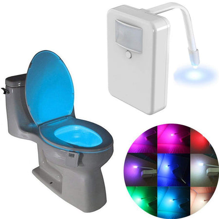 TopMart LED Night Light with Motion Sensor Activated Glow for Toilet Bathroom Bowl (Medium)-Multicolor