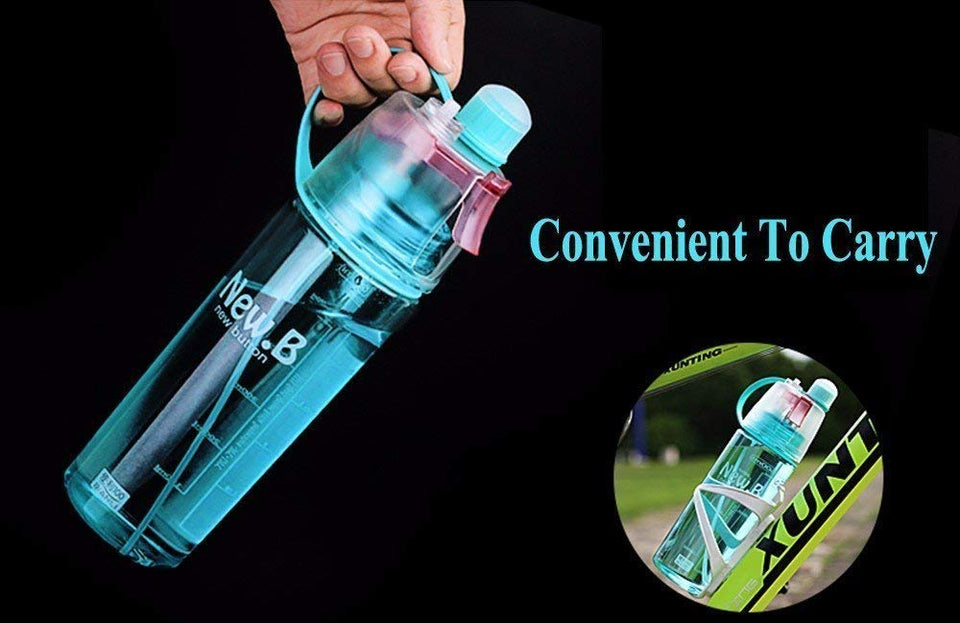 TopMart Spray Water Bottle with Spray Gun for Water Sprinkle, Sports and Outdoor Water Bottle, Summer Spray Bottles, Spray Water Bottle (Multicolor)