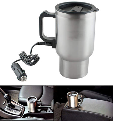 TopMart 12V Car Charging Electric Kettle Mug (Silver)