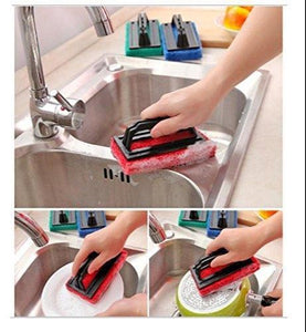 TopMart Tile cleaning multipurpose scrubber Brush with handle
