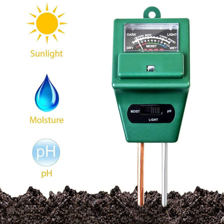 TopMart 3 Way Soil Meter (pH Testing Meter)