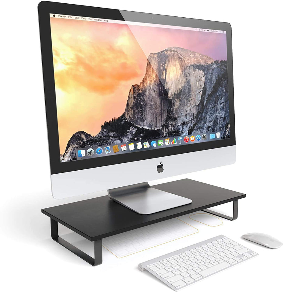 Classic Monitor Stand - Compatible with 27-inch Monitor, Desktops, Laptops and Printers, Monitor Riser Stand