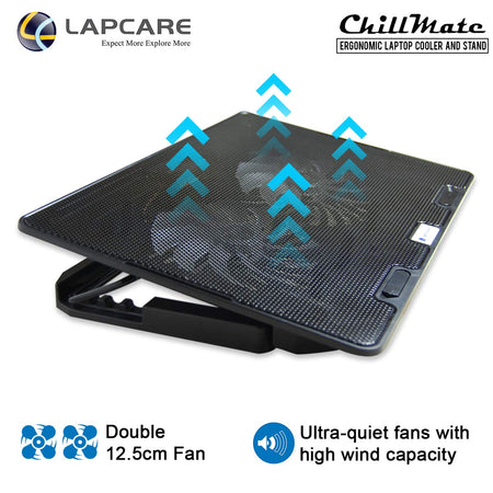Adjustable Laptop Cooling Pad with Twin Fans for Efficient Cooling