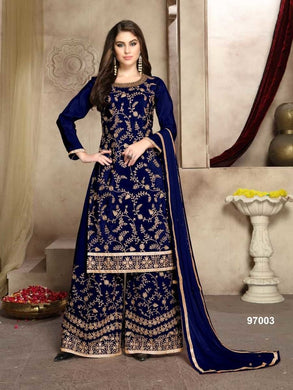 Premium Silk & Georgette Pallazo Suit with Embroidered Work By Aanaya