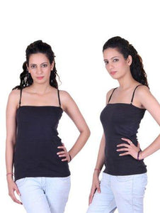 Beautiful Black Pack Of 2 Ladies Camisoles