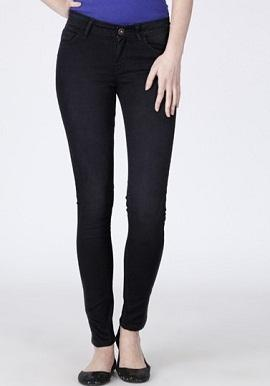 Skinny Fit Black Trouser
