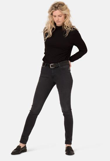Black Denim Jeans With Belt