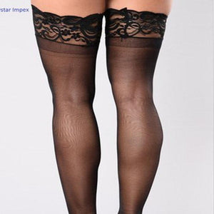 Black ultra seam ultra sheer women everyday stockings