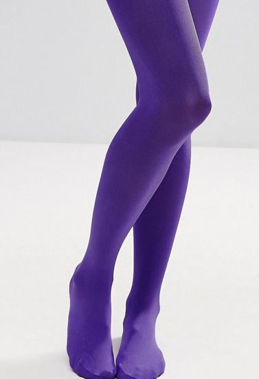 Candy Colors Opaque Footed Socks Tights Pantyhose Women Stockings