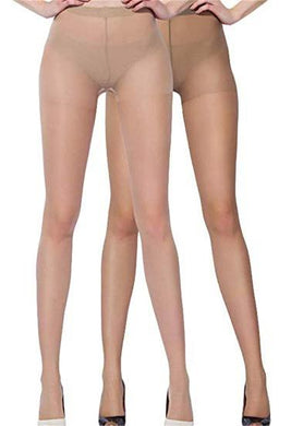 Cream & Brown everyday glossy women pantyhose pack of 2