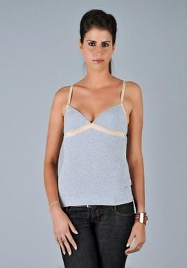 D&G Grey B Smooth Camisole