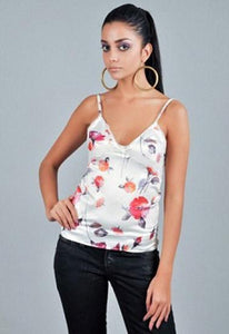 D&G White Floral Camisole