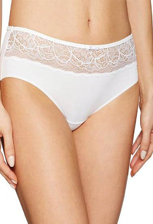 """Sensual"" Designer white microfiber and lace bridal panty underwear"