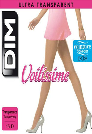 Dim voilissime 15 denier women beige pantyhose Pack of 2