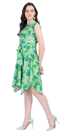 Western Printed Polyester Dress