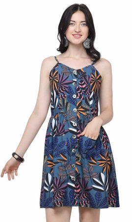 Western Digital Printed Polyester Women's  Pocket Dress