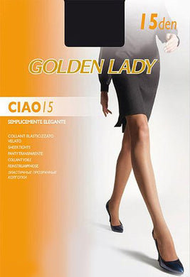 Golden lady 15 denier transparent everyday pantyhose pack of 2