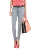 Greyish Slim Jeans With Belt