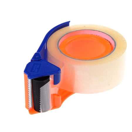 TopMart 2 Inch Plastic Handy Packaging Tape Dispenser, Packaging Tape Cutter Machine, Packaging Boxes Roll Roller Cutter Parcel Cartoon Sealer, Packing Tool